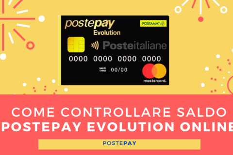 Come controllare saldo Postepay Evolution online