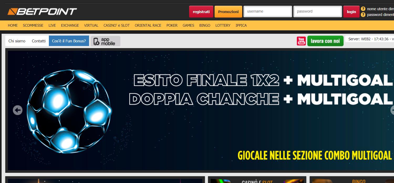betpoint homepage