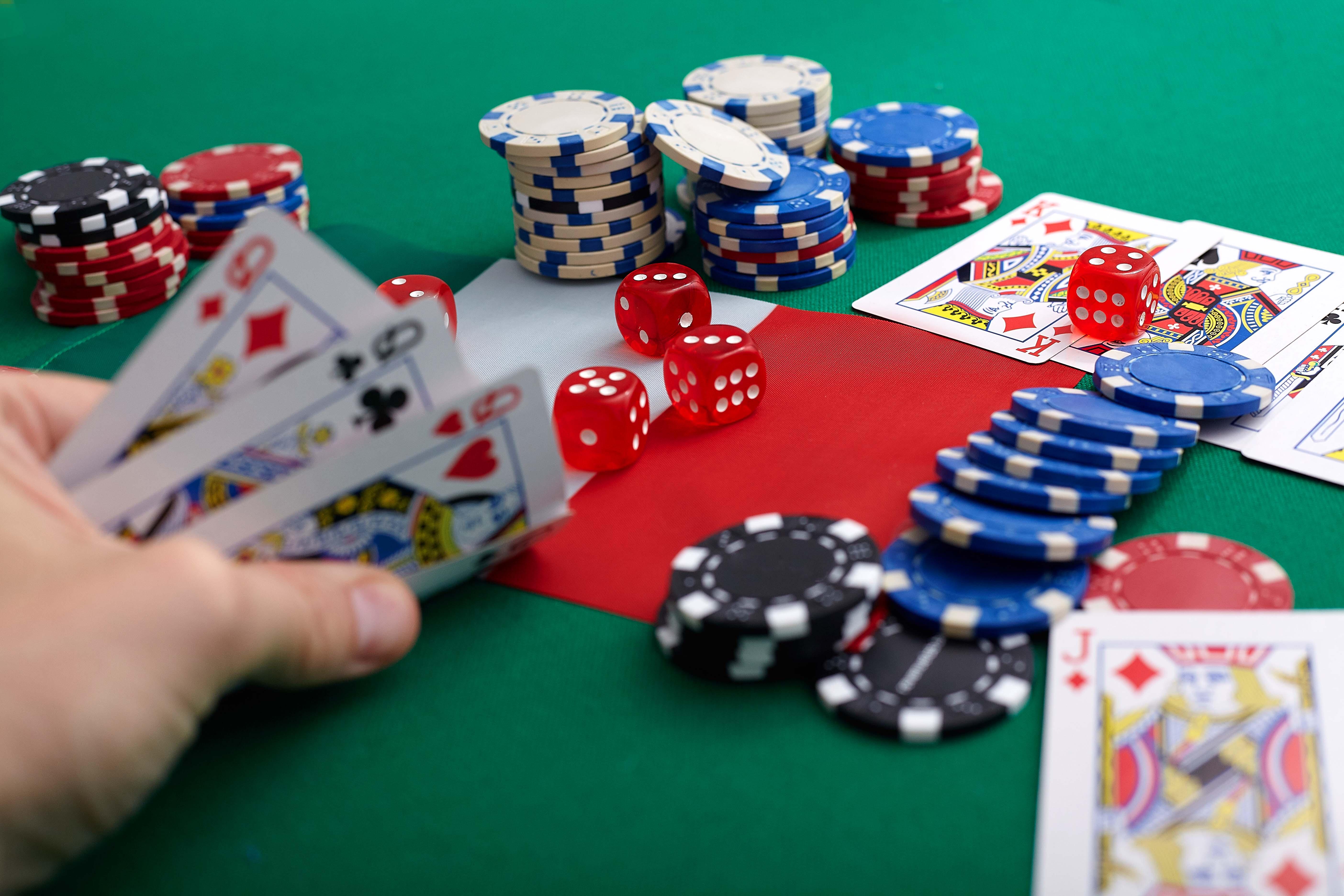 Tavolo da Poker Set da Poker Gambling Casino