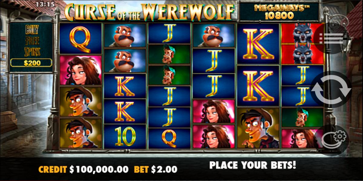 curse of the werewolf megaways pragmatic