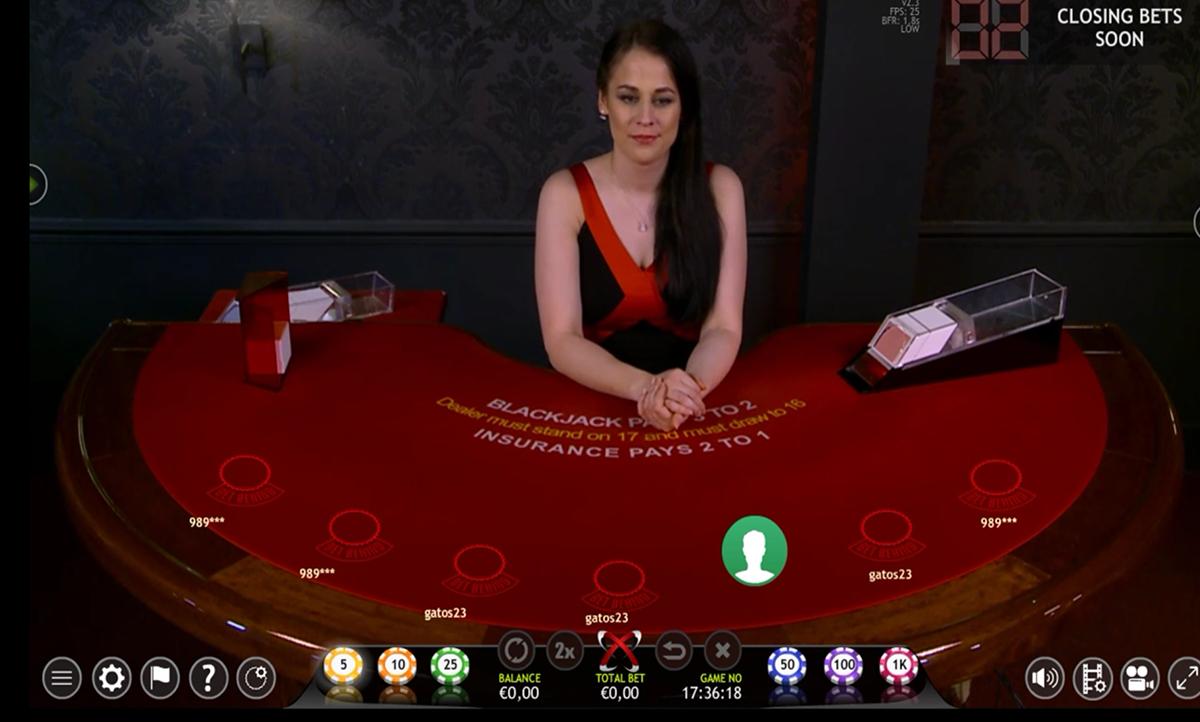 extreme blackjack extreme live gaming