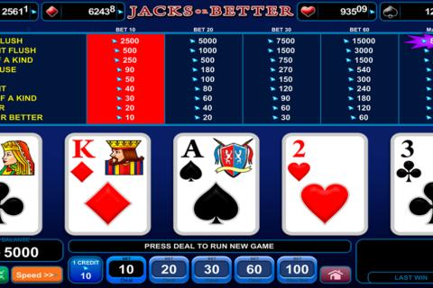 jacks or better poker egt