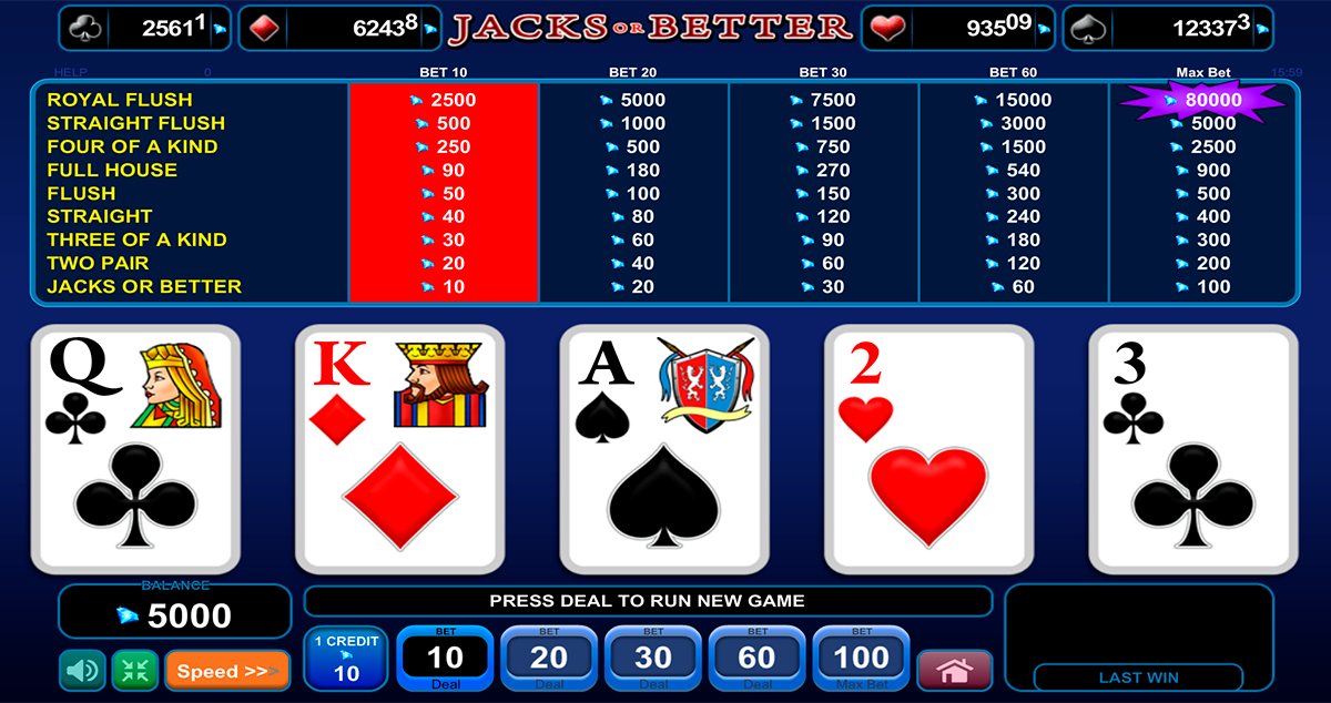 jacks or better poker egt
